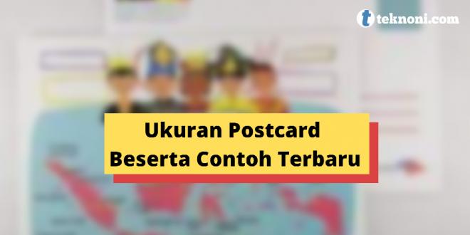 Ukuran Foto Postcard